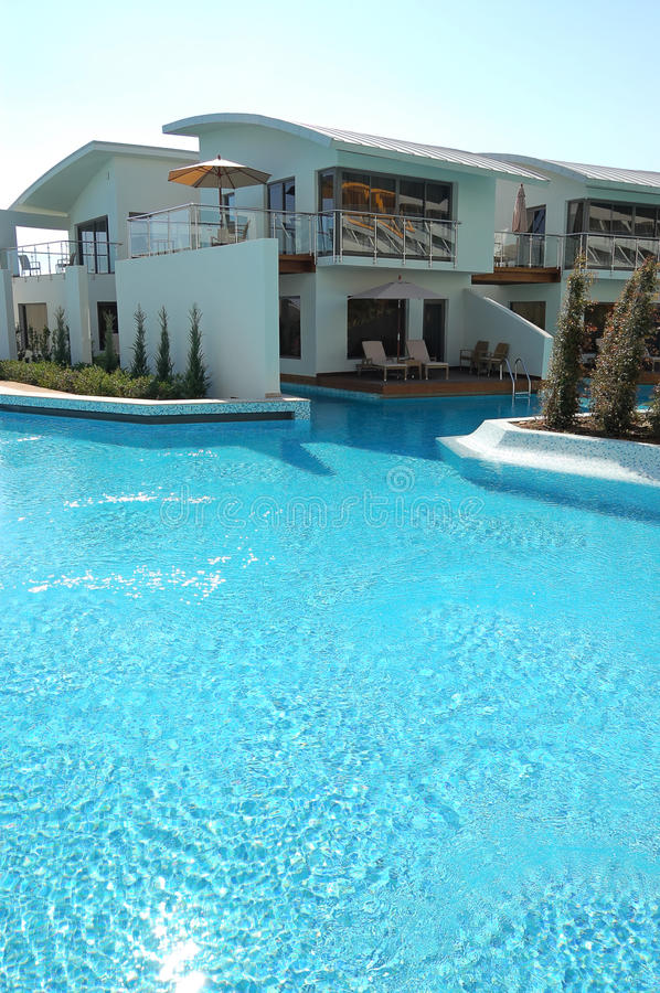 Download Swimming Pool Near Villa At Luxury Hotel Stock Image - Image: 13176691