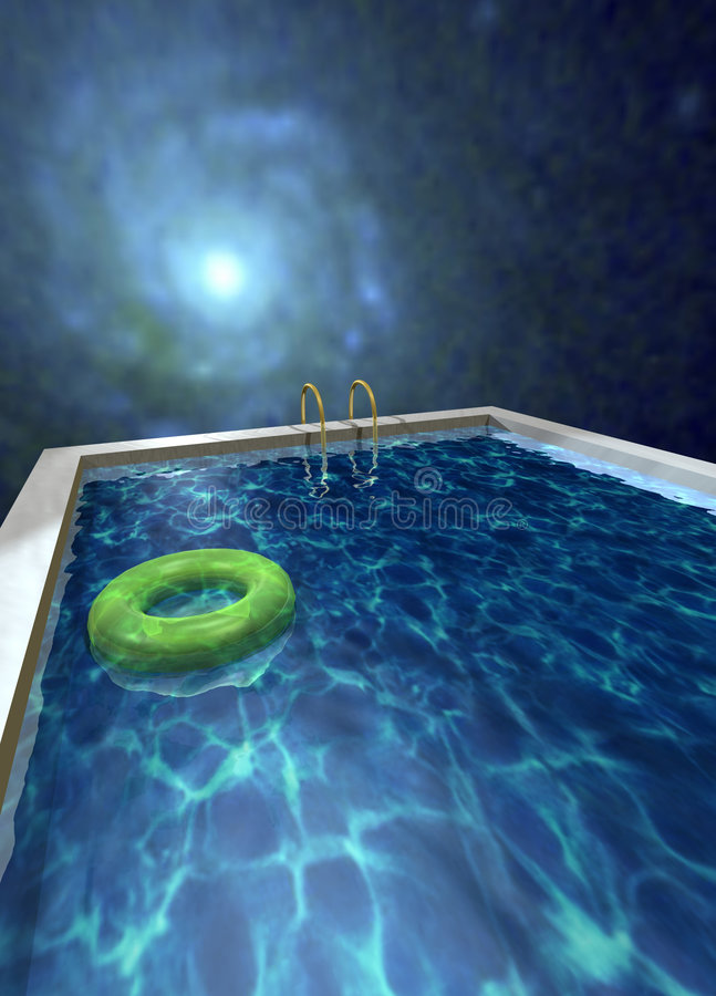Download Swimming Pool at Night stock illustration. Image of smooth - 5647971