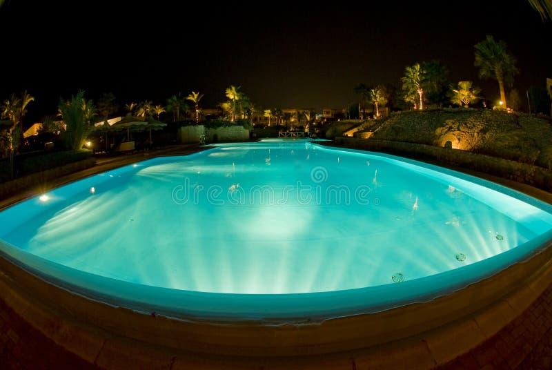 Swimming Pool Night Scene Stock Photo Image Of Angle 7817744