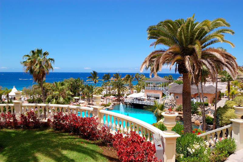 Download Swimming Pool, Open-air Restaurant And Beach Stock Image - Image: 19880611