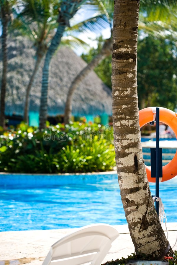 Swimming Pool At A Resort In The Tropics Stock Image