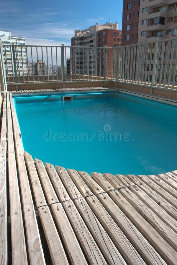 Download Swimming pool on the roof stock photo. Image of small - 17872652