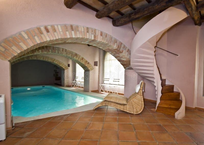 Swimming pool room royalty free stock photo