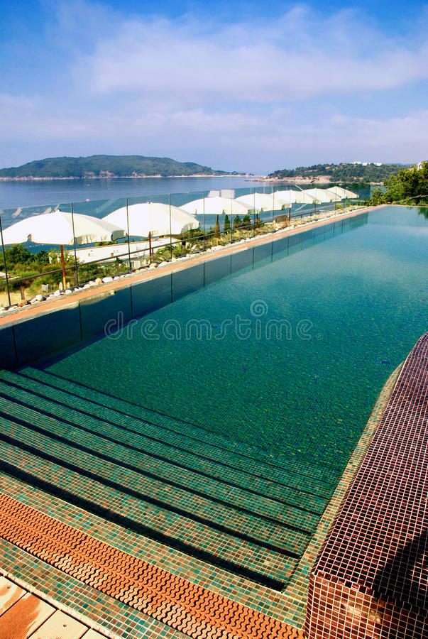Download Swimming pool and sea view stock image. Image of outdoordestinations - 22659021