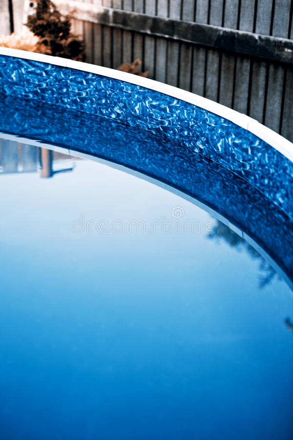 Swimming pool. Small swimming pool at home stock photos
