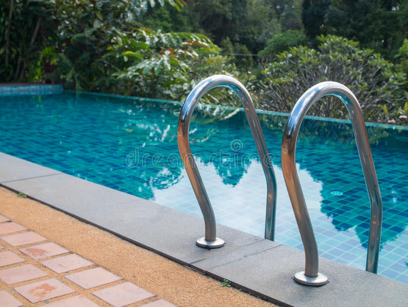 Swimming pool stair royalty free stock image