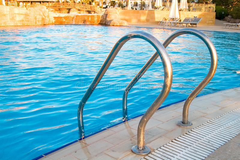 Swimming Pool stairs royalty free stock photo