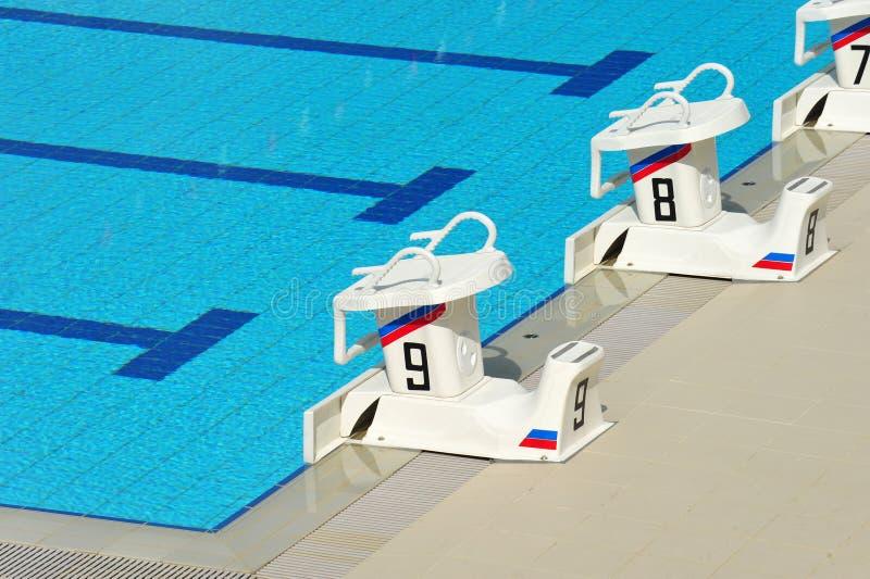 Swimming pool starting block stock image image 16710187 for Swimming pool starting blocks dimensions