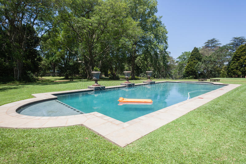 Swimming Pool Summer. Summer swimming pool home landscape stock photos
