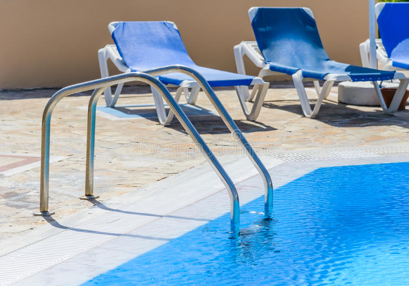 Download A Swimming Pool With Sun Loungers Stock Image   Image Of Pool,  Chair: