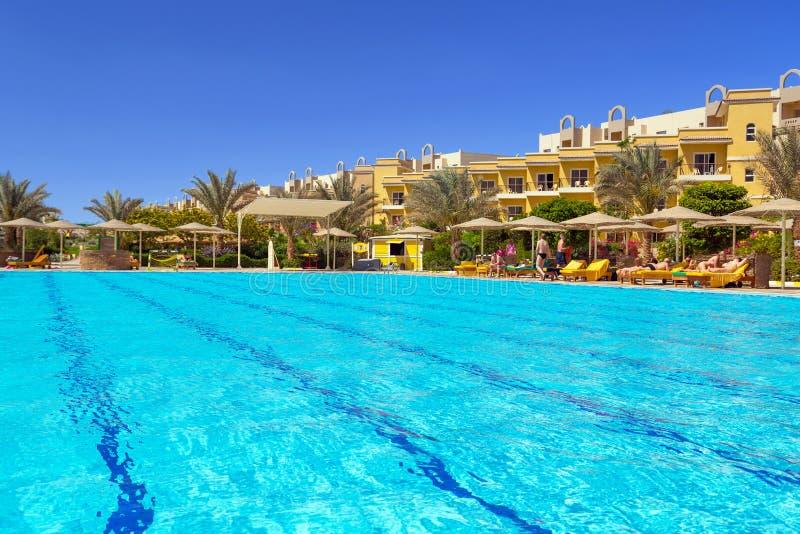 Download Swimming Pool At Tropical Resort In Hurghada Stock Image - Image: 30969697