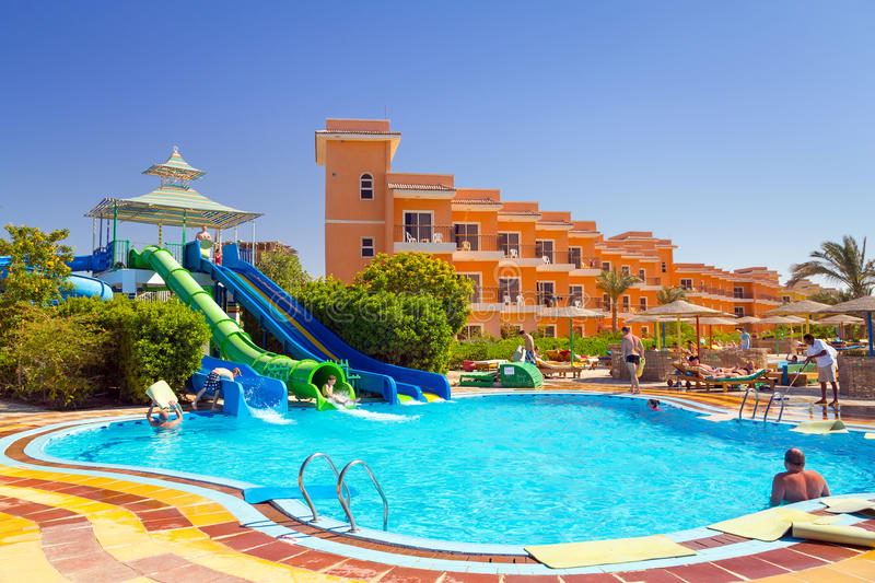 swimming pool at tropical resort in hurghada egypt editorial stock photo image 30970063