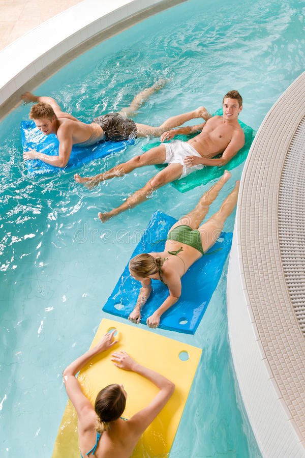 Swimming Pool Young People Have Fun Stock Photo Image