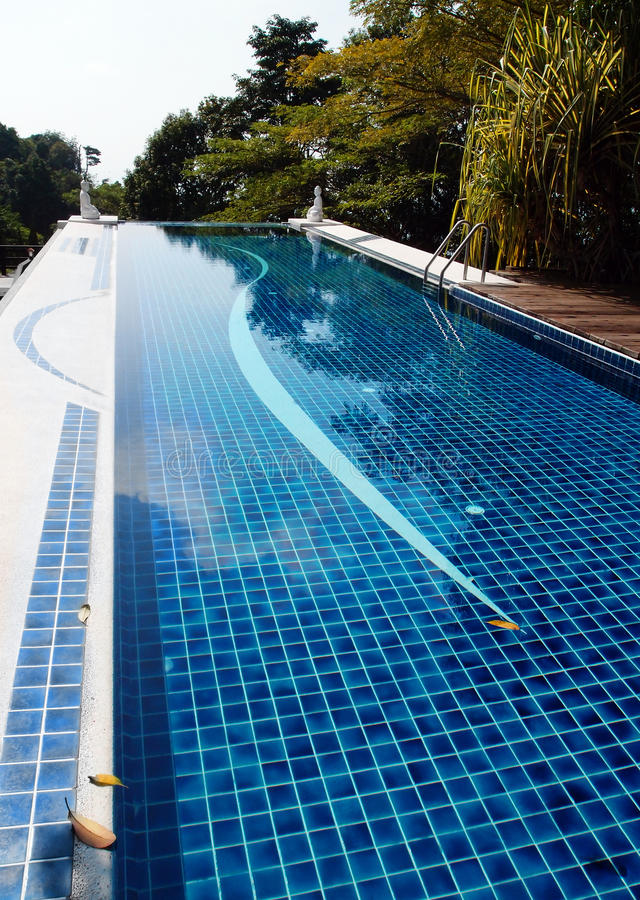 Infinity pool design roof top of resort hotel stock photo for Zen pool design