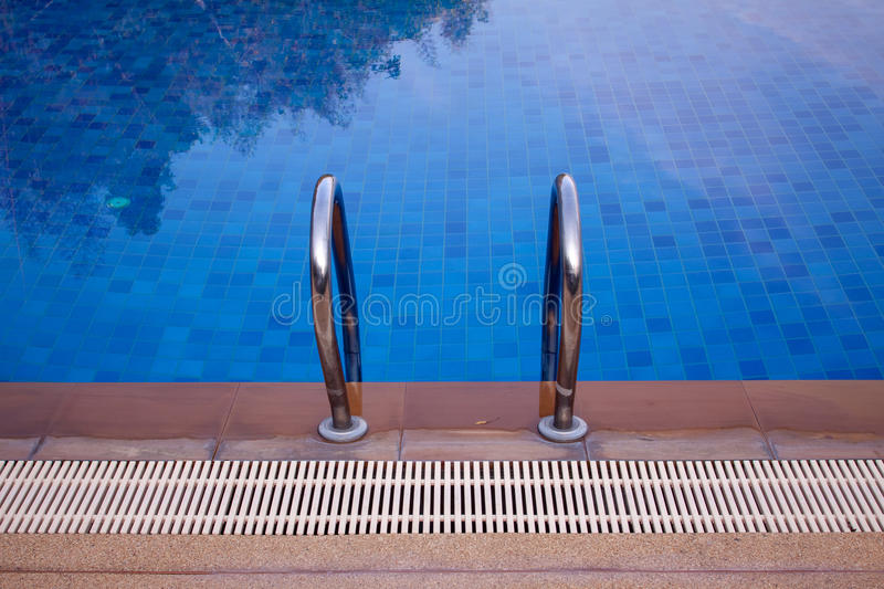 Swimming pools were beautifully. Decorated royalty free stock photo