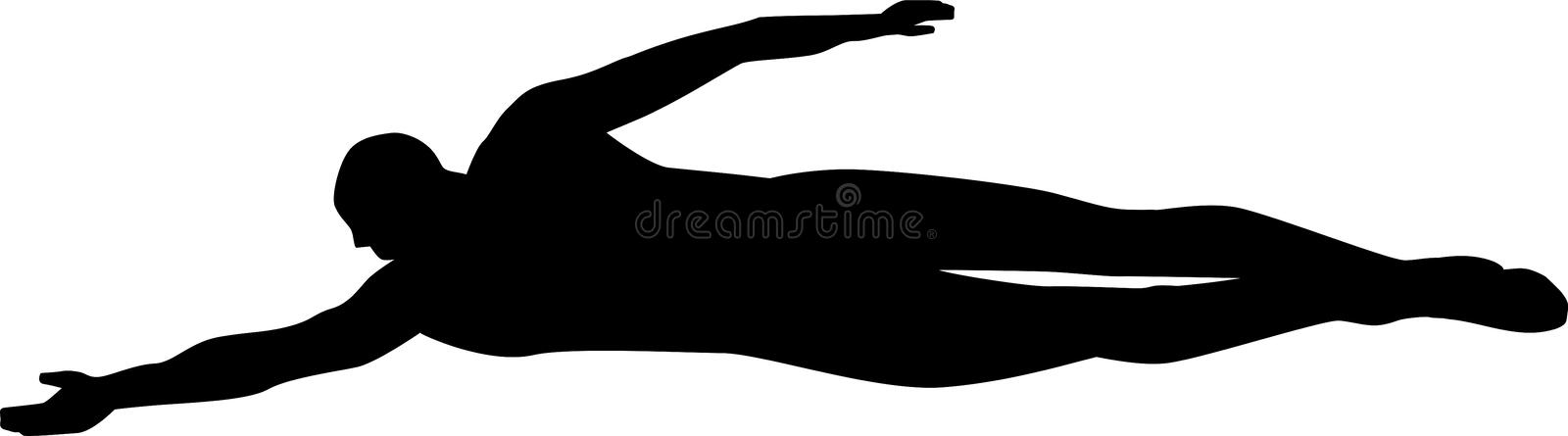 Swimming Silhouette royalty free illustration