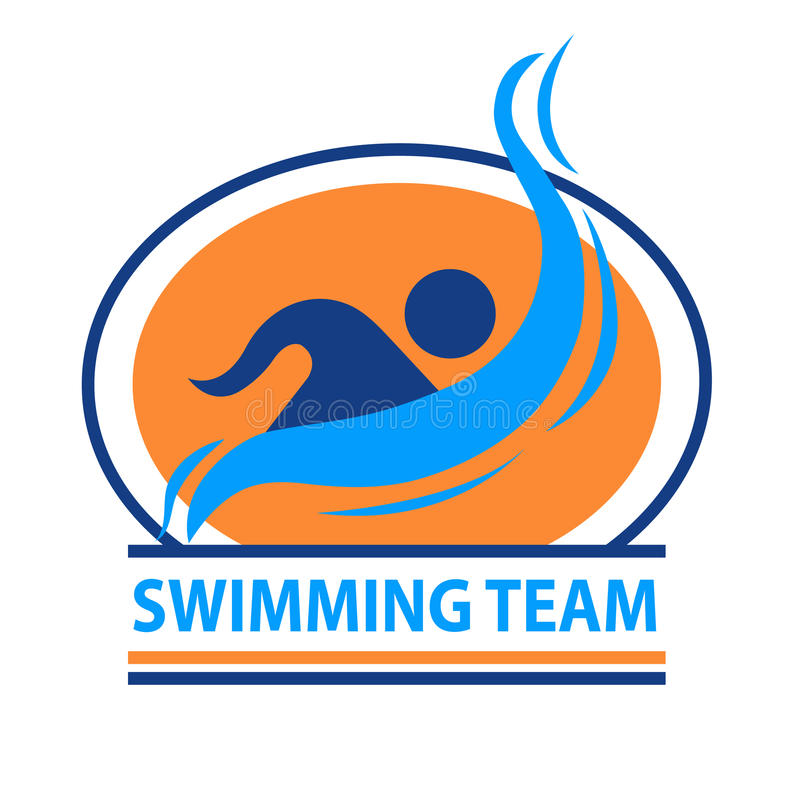 Swimming team logo vector illustration