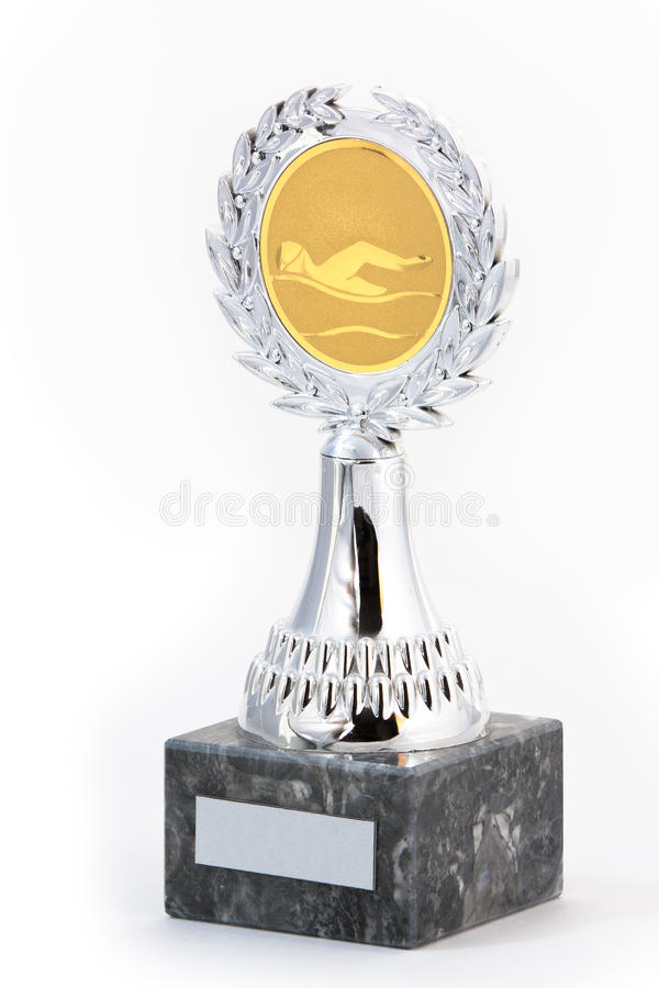 Swimming trophy stock photography