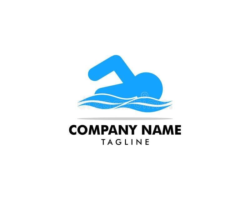 Swimming water sport vector logo design vector illustration