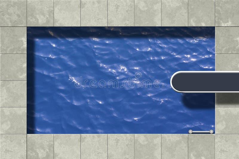 Swimmingpool lizenzfreie abbildung