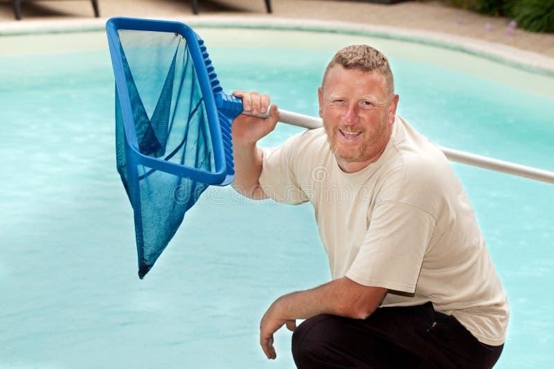 Swimmingpool-Reiniger lizenzfreies stockbild