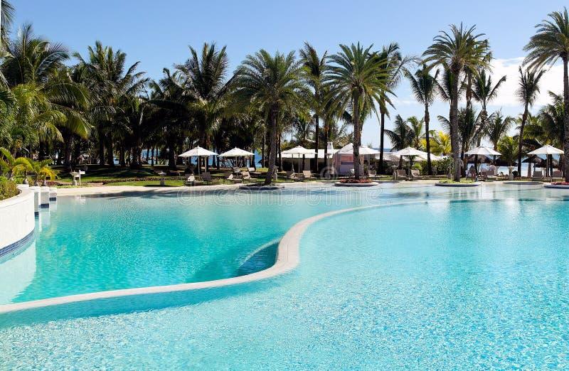 Swimmingpool in the tropical resort