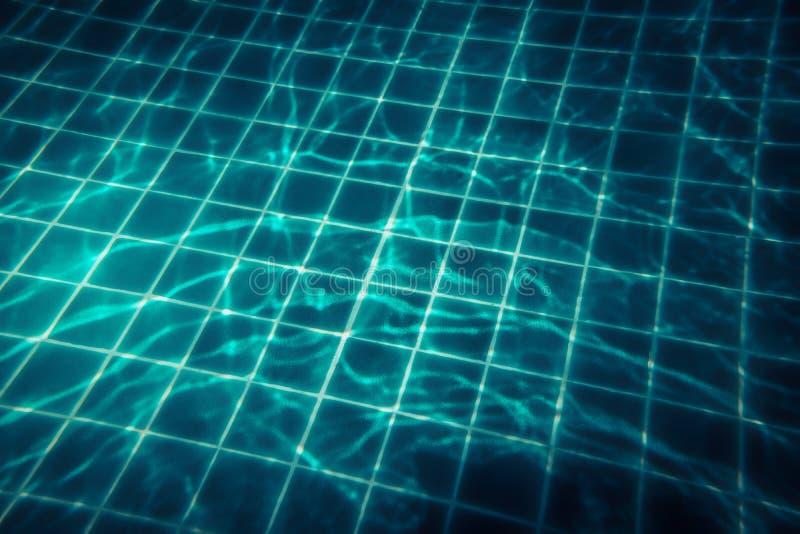 Swimmingpool-Wasserhintergrund mit transparentem Türkiswasser und Nettomuster in der Weinleseart lizenzfreies stockfoto