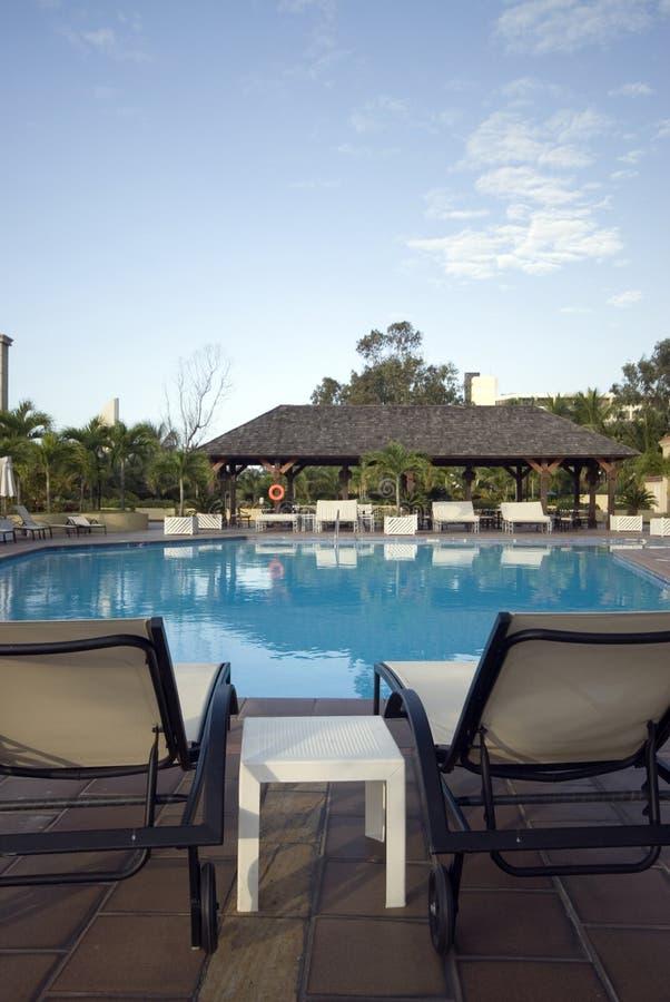 Swimmingpoolhotel stockbild