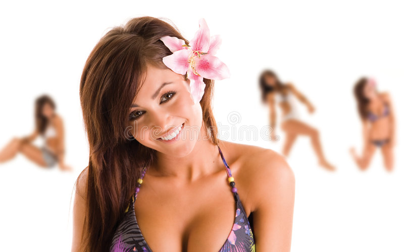 swimsuit девушки стоковое фото