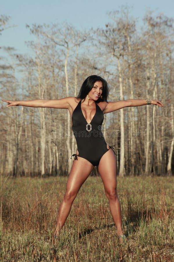 swimsuit девушки стоковые изображения rf