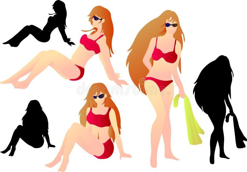 Swimsuit royalty free illustration