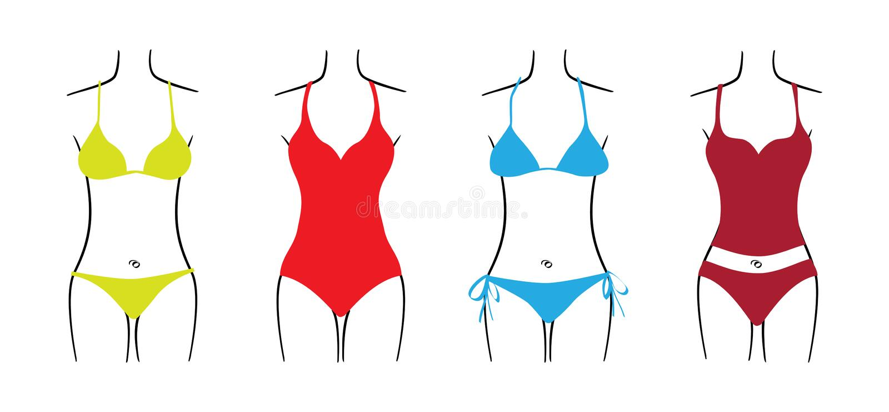 Download Swimsuit stock illustration. Illustration of beach, bathing - 28600787