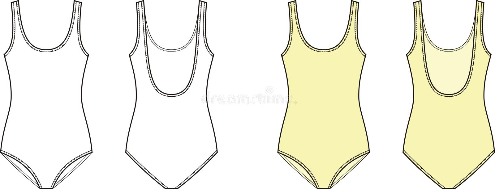 Swimsuit stock vector. Illustration of female, textile ...
