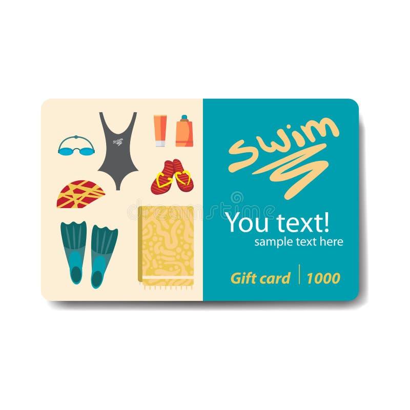 Swimwear και εξαρτήματα για την κολύμβηση διανυσματική απεικόνιση