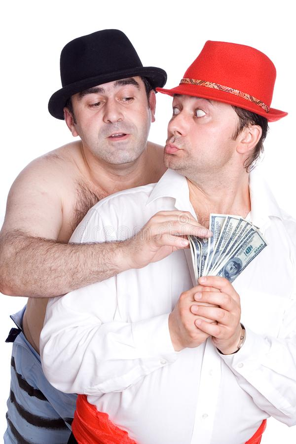 The swindler and a victim royalty free stock photo