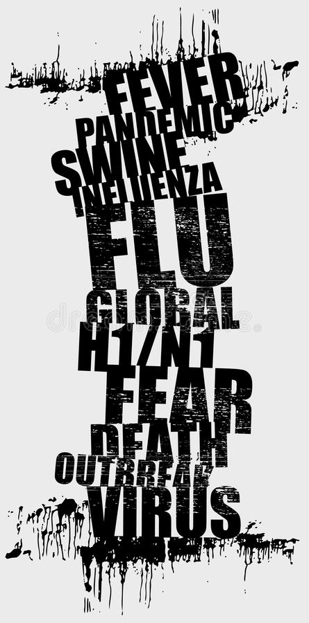 Download Swine flu stock vector. Image of death, people, medicine - 18493030