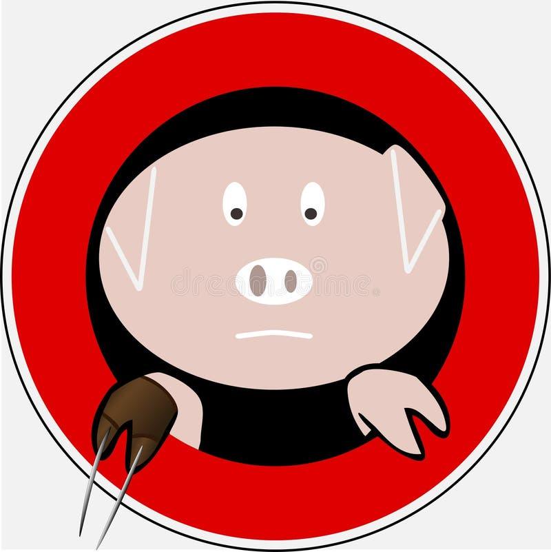 Swine flu 6 stock images
