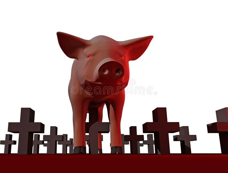 Download Swine flu stock illustration. Image of cemetery, people - 9123164