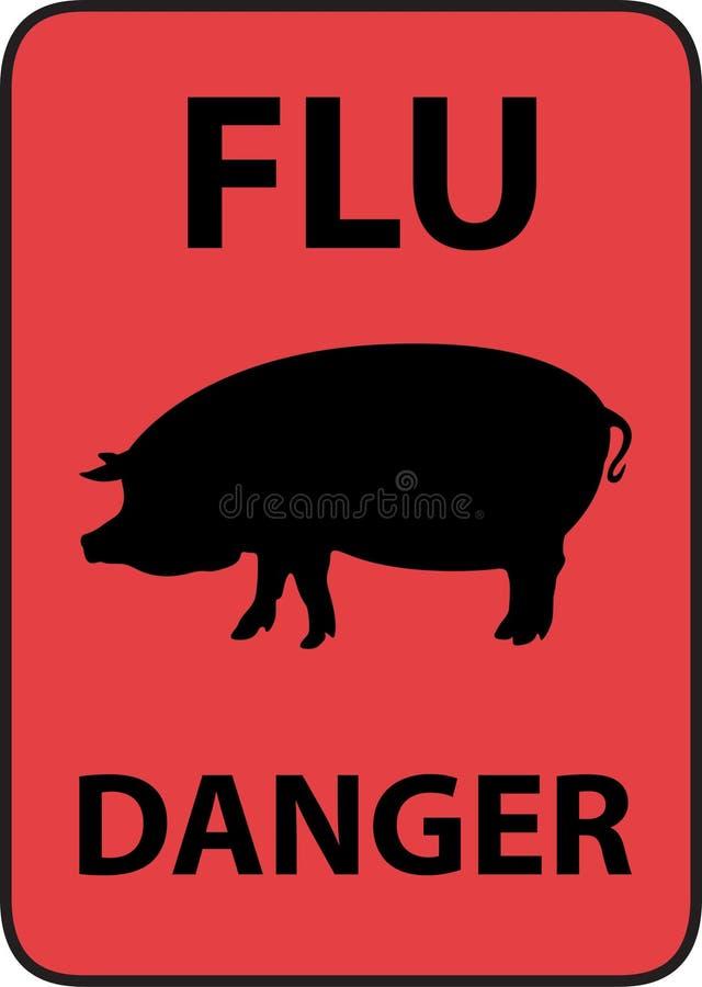 Swine flu vector illustration