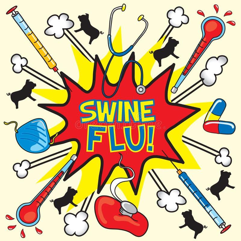 Download Swine flu! stock vector. Image of healthcare, explosion - 9222714