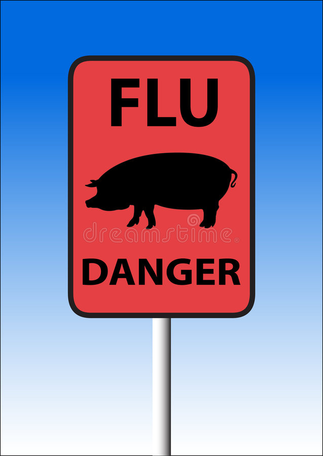 Download Swine flu sign stock vector. Image of caution, pandemic - 9186374