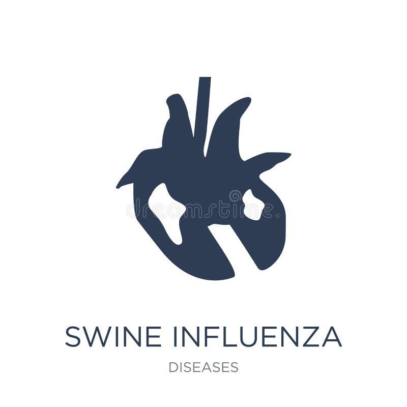 Swine influenza icon. Trendy flat vector Swine influenza icon on royalty free illustration