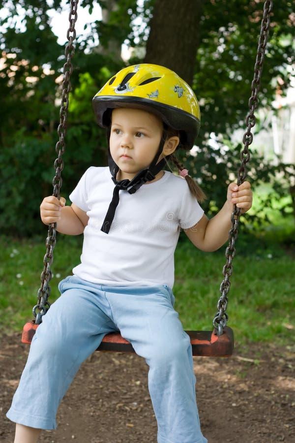 Download On the swing stock photo. Image of swinging, joyful, beautiful - 2673786