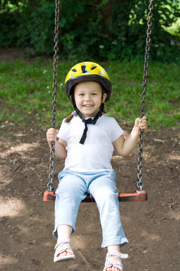 Download On the swing stock photo. Image of sweet, happiness, childhood - 2673788