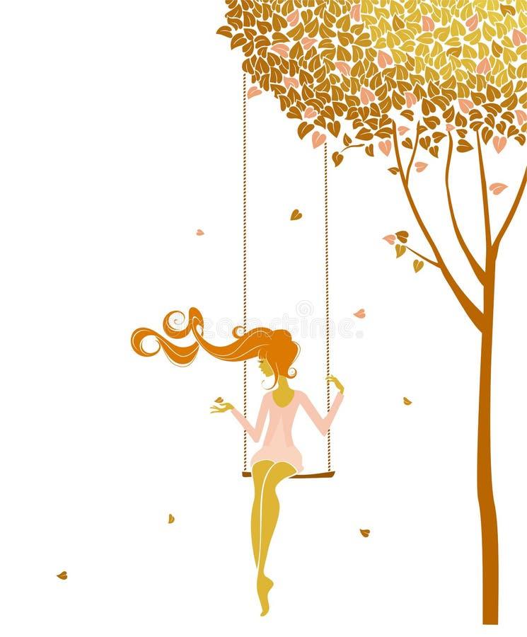 swing royaltyfri illustrationer