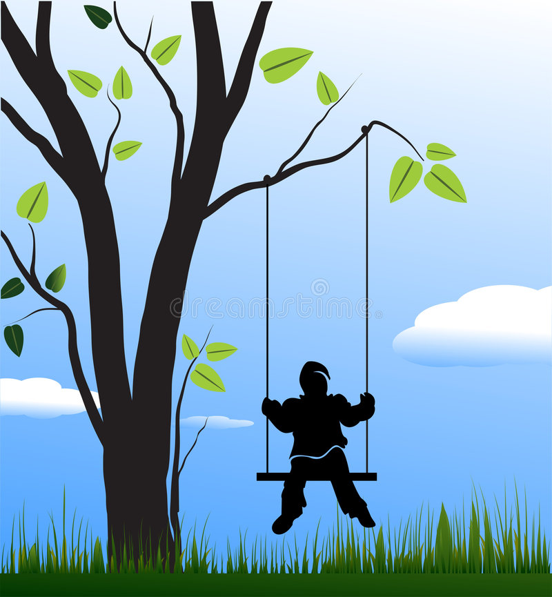 Free Swing And Children Royalty Free Stock Photo - 7351515