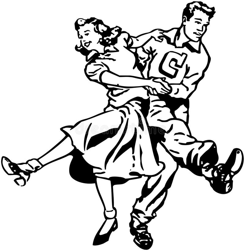 Swing Dancers stock illustration