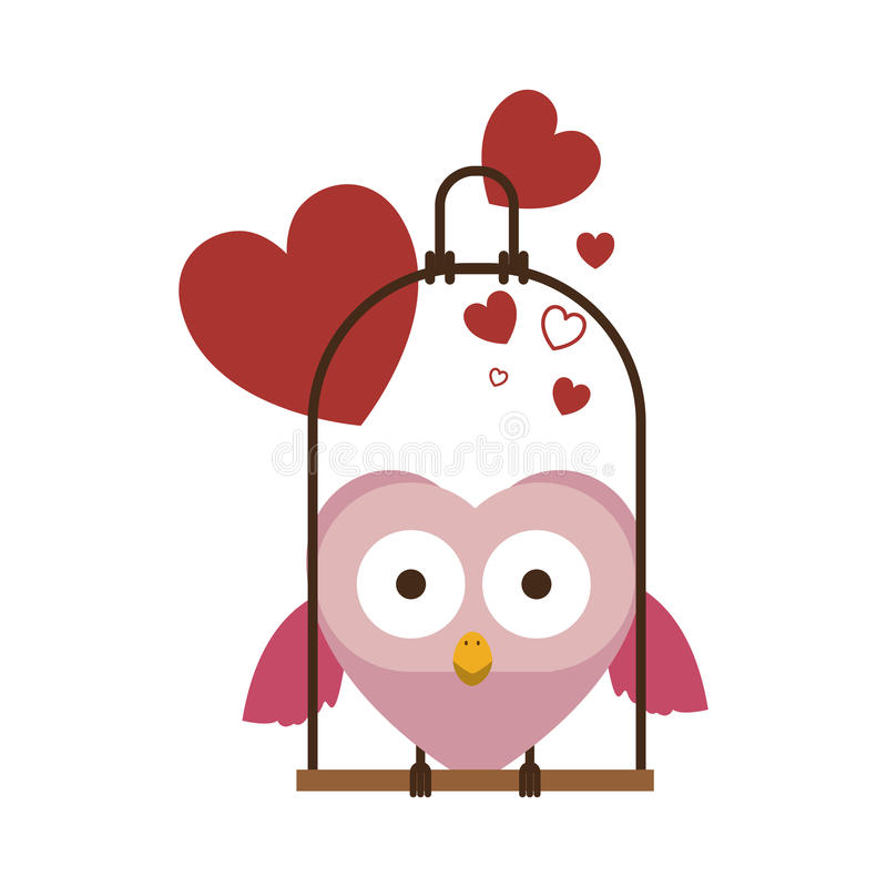 Free Swing Decorate With Hearts And Owl Standing Stock Image - 81465061
