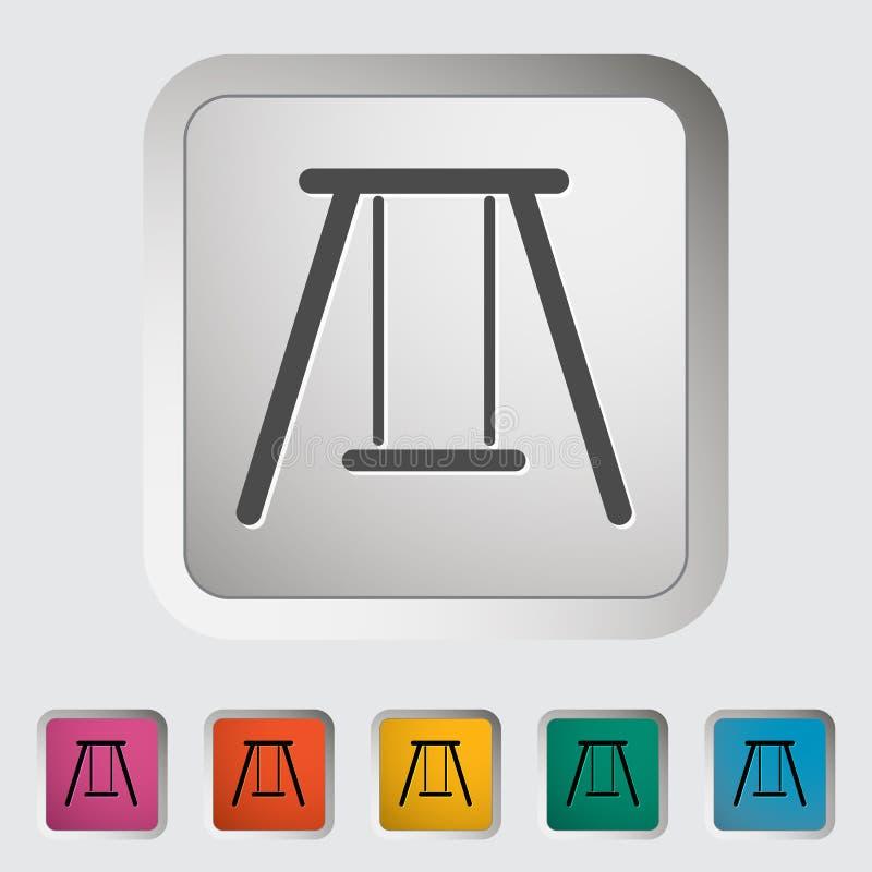 swing Enkel symbol stock illustrationer