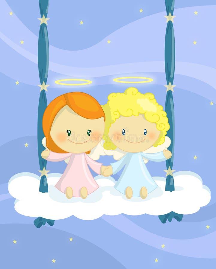 swing för ängeloklarhetscuople royaltyfri illustrationer
